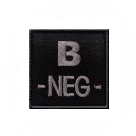 Insigne B- de groupe sanguin Noir - TOE Pro
