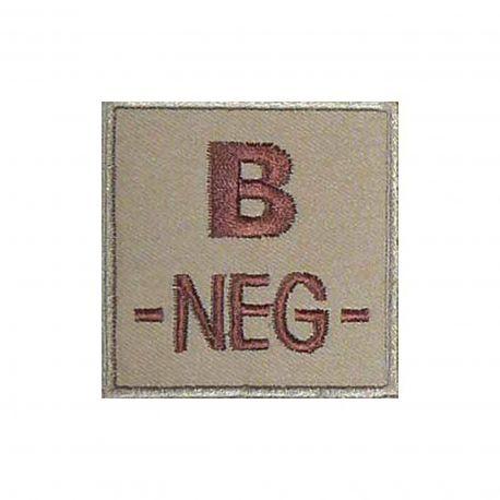 Insigne B- de groupe sanguin Coyote - TOE Pro