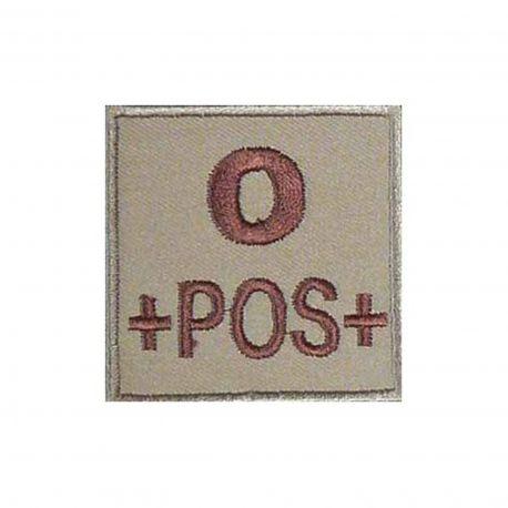 Insigne O+ groupe sanguin Coyote - TOE Pro