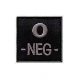 Insigne O- de groupe sanguin Noir -TOE