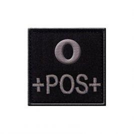 Insigne O+ groupe sanguin Noir - TOE Pro