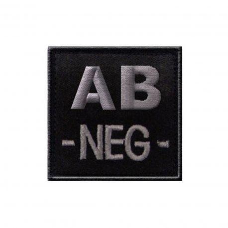 Insigne AB- groupe sanguin Noir - TOE Pro