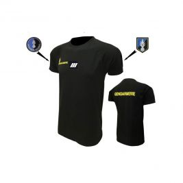 Tee-shirt noir respirant gendarmerie mobile - DMB Products