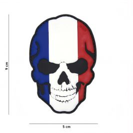 Patch 3D crâne France en PVC - 101 Inc