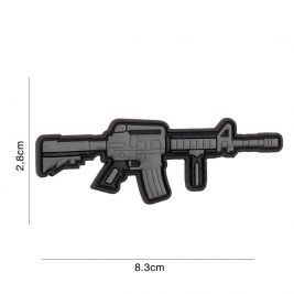 Patch 3D arme M4/AR-15 en PVC gris - 101 Inc