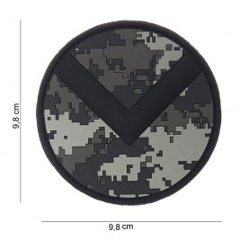 Patch 3D Spartan shield en PVC ACU - 101 Inc