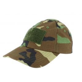 Casquette Baseball Ripstop US Woodland - Helikon