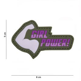 "Patch 3D en PVC ""Girl Power"" Rose - 101 Inc"