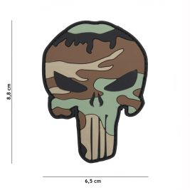Patch 3D en PVC Punisher woodland - 101 Inc