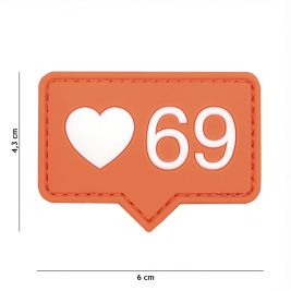Patch 3D PVC Love 69 - 101 Inc