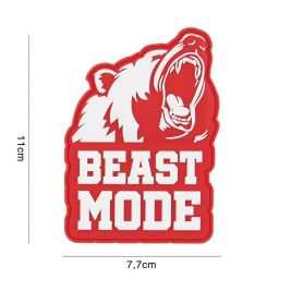 Patch 3D PVC Beast Mode Rouge - 101 Inc
