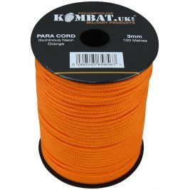 Paracord - 100m Reel - Neon Orange