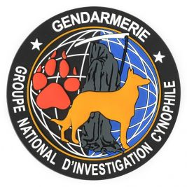 Patch en gomme Groupe National d'Investigation Cynophile - Dimatex