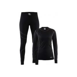 BASELAYER SET FEMME BLACK/GRANIT
