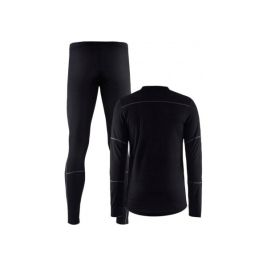 BASELAYER SET HOMME BLACK/GRANIT