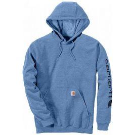 Sweat Midweight Sleeve Logo Hooded K288 Bleu Ciel - Carhartt
