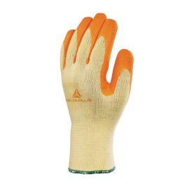 GANT TRICOT POLYCOTON AVEC PAUME ENDUITE LATEX Jaune/Orange - DELTA PLUS