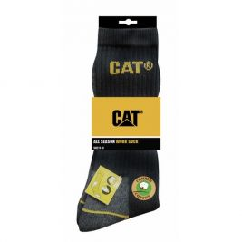Lot de 3 paires de chaussettes CAT Noir - Caterpillar