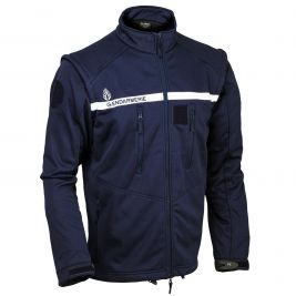 Blouson Softshell Gendarmerie 3 couches Marine manches amovibles - Patrol