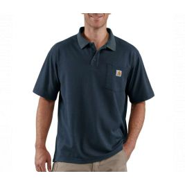 CONTRACTORS WORK POCKET POLO K570 412-NVY-NAVY