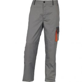 PANTALON DE TRAVAIL D-MACH EN POLYESTER COTON GRIS/ORANGE - DELTA PLUS