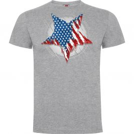 Tee-shirt Etoile US Gris Chiné - Army Design by Summit Outdoor