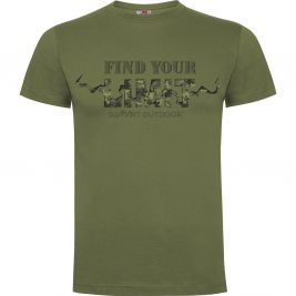Tee-shirt Find your Limit camo Vert OD - Army Design by Summit Outdoor