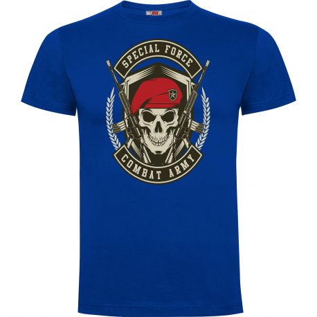Tee-shirt Bleu Royal Combat Army - Army design by Summit Outdoor